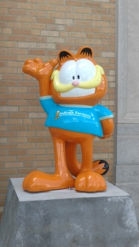 Garfield - outside Indiana Farmers Colosseum, Indiana State Fairgrounds
